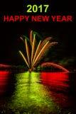 Glückliches neues Jahr des Hintergrundes Stockfotos