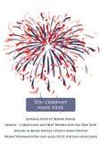 Glückliches neues Jahr-Gruß 2010 mit Feuerwerken Lizenzfreies Stockfoto