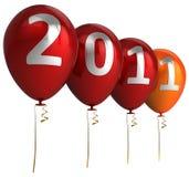 Glückliches neues Jahr Hinauftreiben von Aktienkursen (Mieten) Stockfotos
