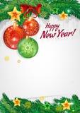 Glückliches neues Jahr Hintergrund für Glückwünsche Stockfotografie