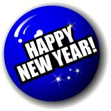 Glückliches neues Jahr-Qualitäts-3-D Kugel-Vektor Lizenzfreie Stockbilder