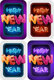 Glückliches neues Jahr-Set Lizenzfreies Stockfoto
