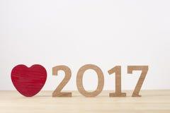 Glückliches neues Jahr Seufzersymbol von Nr. 2017 Stockfoto