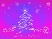 Glückliches neues Jahr u. frohe Weihnachten Lizenzfreies Stockfoto