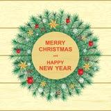 Glückliches neues Jahr und frohe Weihnachten lizenzfreie abbildung
