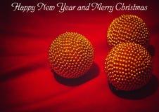 Glückliches neues Jahr und frohe Weihnachten Lizenzfreies Stockfoto