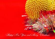 Glückliches neues Jahr und frohe Weihnachten Stockfotografie
