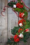 Glückliches neues Jahr und frohe Weihnachten Hintergrund Stockfotos