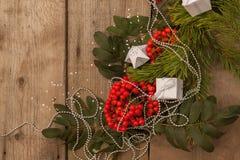 Glückliches neues Jahr und frohe Weihnachten Hintergrund Lizenzfreie Stockbilder