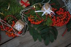 Glückliches neues Jahr und frohe Weihnachten Hintergrund Stockbilder