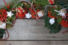 Glückliches neues Jahr und frohe Weihnachten Hintergrund Lizenzfreies Stockfoto