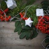 Glückliches neues Jahr und frohe Weihnachten Hintergrund Stockfotografie