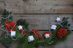 Glückliches neues Jahr und frohe Weihnachten Hintergrund Lizenzfreies Stockbild