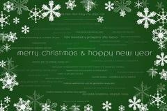 Glückliches neues Jahr und Karte der frohen Weihnachten Lizenzfreies Stockbild