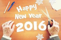 Glückliches neues Year-2016 Lizenzfreies Stockbild