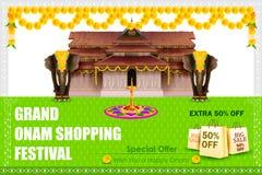 Glückliches Onam-Einkaufenangebot Lizenzfreie Stockfotos