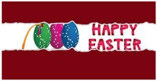 Glückliches Ostern-Dekorationsinnere heftiger Papierhintergrund Lizenzfreies Stockbild