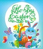 Glückliches Ostern-Design lizenzfreie stockfotografie