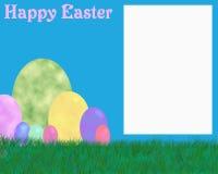 Glückliches Ostern-Fotofeld Lizenzfreies Stockfoto