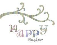 Glückliches Ostern-Grußkarten-Abdeckungsdesign Stockfoto