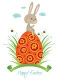 Glückliches Ostern-Kaninchen Lizenzfreies Stockbild
