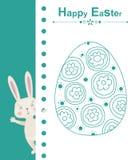 Glückliches Ostern-Kaninchen Stockbild