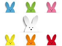 Glückliches Ostern-Kaninchen Bunny Set Cartoon Stockfotografie