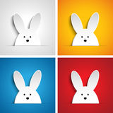 Glückliches Ostern-Kaninchen Bunny Set Cartoon Stockfoto