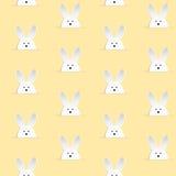 Glückliches Ostern-Kaninchen Bunny Yellow Seamless Stockfoto