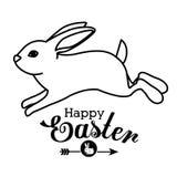 Glückliches Ostern-Kartendesign, Illustration Stockfotos