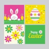 Glückliches Ostern-Kartenkonzept lizenzfreie abbildung