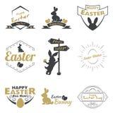 Glückliches Ostern-Logo stockfoto