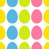 Glückliches Ostern-Malereiei malte Oberteilsatz Helle Farbnahtlose Linie Muster-Packpapier, Textilschablone Weißer Hintergrund Lizenzfreie Stockbilder