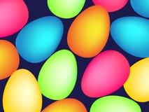 Glückliches Ostern-Muster mit Eiern Vektor Lizenzfreie Stockfotos