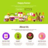Glückliches Ostern-Website-Design Stockfoto