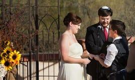 Glückliches Paar in der eingetragenen Partnerschaft Lizenzfreie Stockfotografie