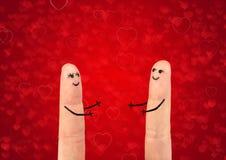 Glückliches Paar in der Liebe lizenzfreies stockfoto