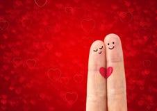 Glückliches Paar in der Liebe stockbilder