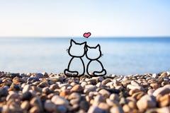 Glückliches Paar in der Liebe Stockfoto