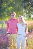 Glückliches Paar im Park Stockbild