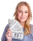 Glückliches reiches Mädchen stockfotografie