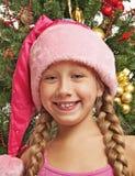 Glückliches Sankt-Mädchen Lizenzfreie Stockfotografie