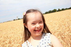 Glückliches schönes Mädchen Lizenzfreies Stockbild