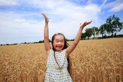 Glückliches schönes Mädchen Stockfotografie
