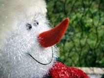 Glückliches Schneemannspielzeug lizenzfreie stockfotografie