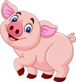 Glückliches Schwein der Karikatur lokalisiert auf weißem Hintergrund vektor abbildung