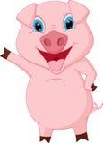 Glückliches Schweinkarikaturdarstellen Lizenzfreies Stockfoto
