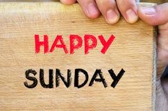 Glückliches Sonntags-Textkonzept Lizenzfreie Stockbilder