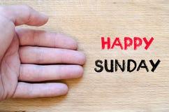 Glückliches Sonntags-Textkonzept Stockbilder