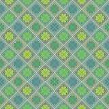 Glückliches St Patrick, s-Tag Nahtloses Muster mit Klee Stock Abbildung